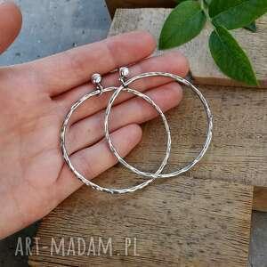 duże kolczyki 5,5 cm srebrne koła