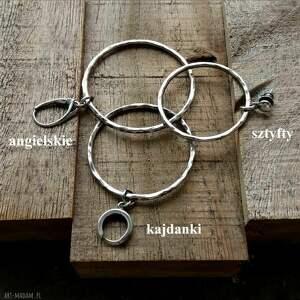 kolczyki długie 5,5 cm srebrne koła