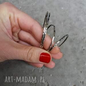 kolczyki kolczyki-duże 6,5 cm srebrne koła