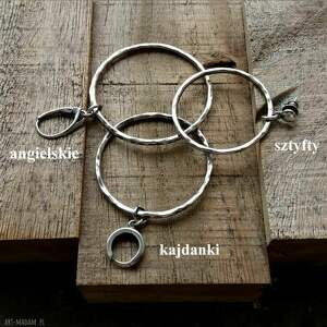 kolczyki-koła kolczyki 6,5 cm srebrne koła