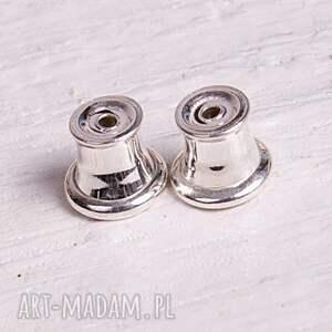 hand made kolczyki a401 srebrne drobinki