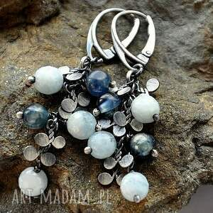 niebieskie kolczyki kyanit akwamaryn i