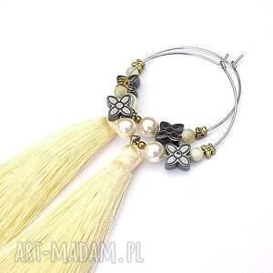niekonwencjonalne kolczyki koła alloys collection /boho/ vanilla -