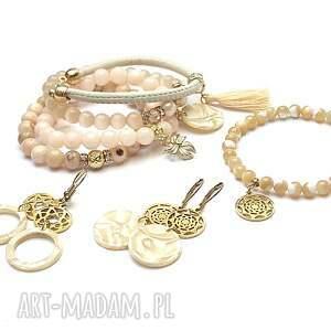 pozłacane alloys collection /creme - rosette/