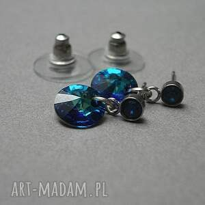 niepowtarzalne kolczyki stal alloys collection /bermuda blue