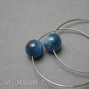 niebieskie kolczyki stal alloys collection /kyanitowe