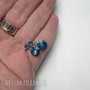 srebrne kolczyki szlachetna alloys collection /bermuda blue