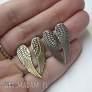 kolczyki skrzydła angel silver