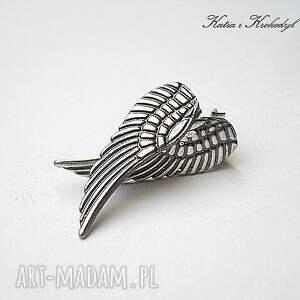 skrzydła kolczyki angel silver