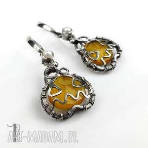 niepowtarzalne kolczyki kolczyki-srebrne angry pumpkin srebrne