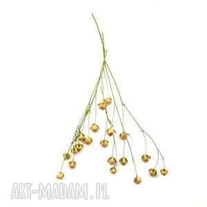 galeria nuit Anhydryt - lniane kolczyki półdługie - wiszące