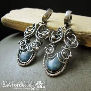 kolczyki apatito - apatyt, srebro, wire