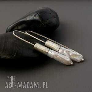 miechunka Barocco II srebrne kolczyki z perłami biwa - oksydowane