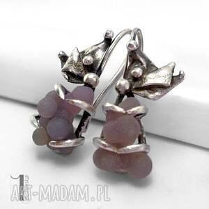 kolczyki bilberry srebrne