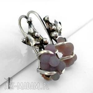 kolczyki długie bilberry srebrne