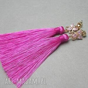 cyrkonie boho /butterfly/ - hot pink - /15