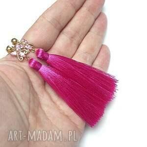 wyjątkowe cyrkonie boho /butterfly/ - hot pink - /15