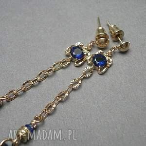 niebieskie chwosty boho - troki /navy
