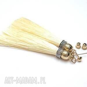 handmade kolczyki chwosty boho - vanilla vol. 2 /22-02-18/