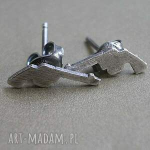 kolczyki srebro colty