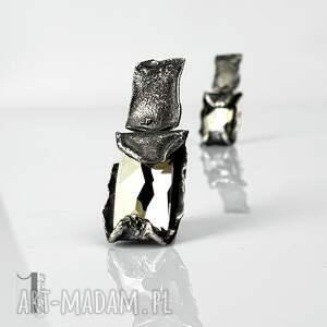nietuzinkowe kolczyki kolczyki-srebrne cubic - srebrne swarovski