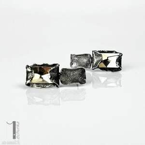 nietuzinkowe kolczyki metaloplastyka-srebro cubic - srebrne swarovski