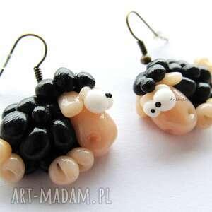 handmade kolczyki czarne owce
