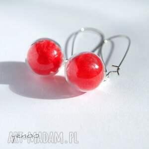 Yenoo Czerwone piórka - kolczyki wiszące - bigle
