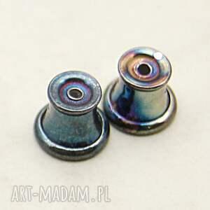 kolczyki d020 sztyfty srebrne ze szkłem