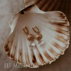 eleganckie kolczyki długie z różowego złota
