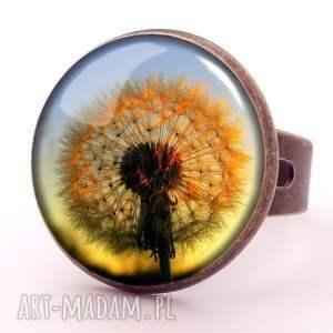 kolczyki kwiatowe dmuchawiec w słońcu - małe