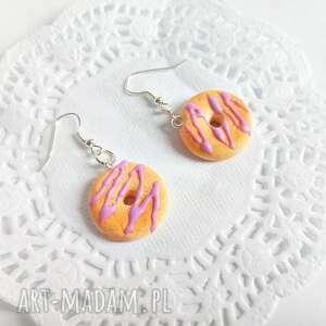 gustowne kolczyki donuty - z lukrową polewą