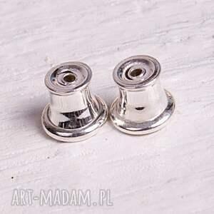 drobinki srebrne kolczyki