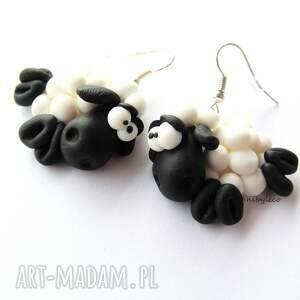 modne kolczyki dwie owieczki