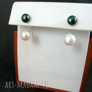 sztyfty dwie perły kolczyki