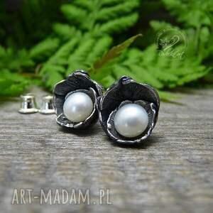 białe kolczyki dzwoneczki white - srebro