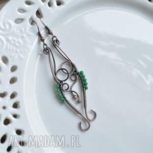 urokliwe elficka zieleń - kolczyki