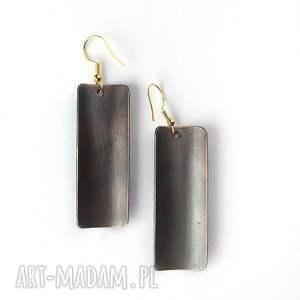 czarne emalia jubilerska kolczyki emaliowane plus złoto