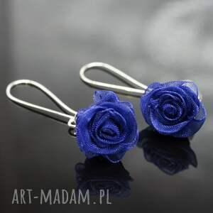 niebieskie kolczyki english roses - granatowe