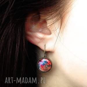 handmade kolczyki nebula fioletowa - małe