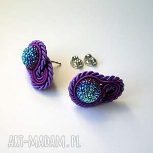 fioletowe małe fiołki ii - mini kolczyki