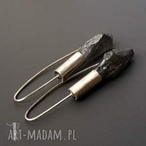 kolczyki srebro flare srebrne z kwarcem
