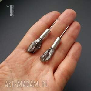 kwarc kolczyki flare srebrne z kwarcem