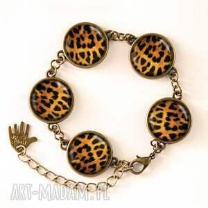 gepard kolczyki - małe wiszące