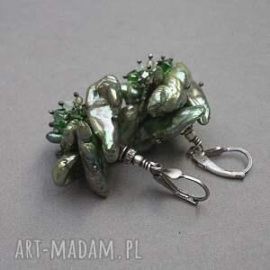 zielone srebro oksydowane główki sałaty vol