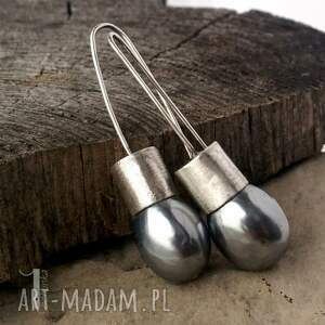 unikatowe kolczyki graphite iii srebrne