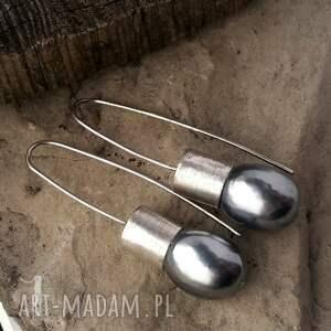 unikatowe kolczyki srebro graphite iii srebrne