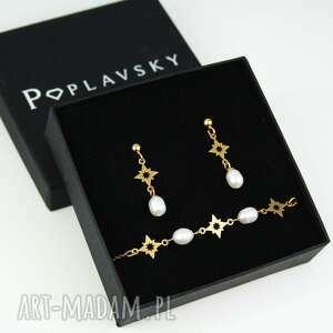 kolczyki gwiazdki perła naturalna