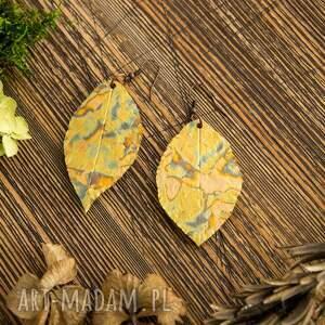 atrakcyjne liść kolczyki liście glamorous