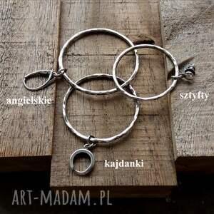 kolczyki długie 6,5 cm srebrne koła